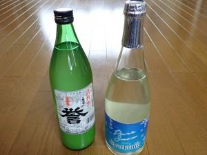 左は濁り酒 右はスパークリング
