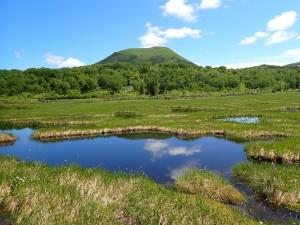 チセヌプリと池塘