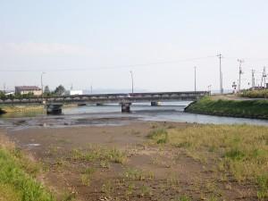 河口に向かう