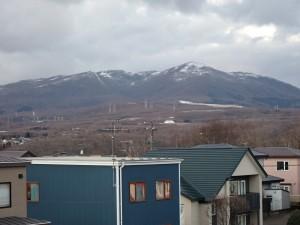 雪化粧の室蘭岳