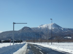 きれいな空と山
