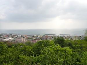 虻田の街が見える
